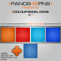 colour social icons by panos46