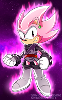Sonic Rose Black (Goku Crossover) by SonicTheEdgehog