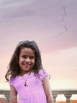 Child Under a Sunset Sky by RogerioGuimaraes