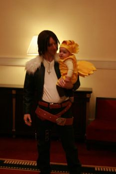 Squall and Chicobo by SummonerLuna