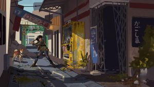 Post Apocalyptic Japan Alley by GloriousRyan