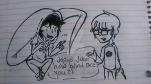 John and Dave doodle by Benjilewie