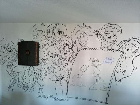 MLP wall painting by cloudcore