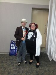 7th Doctor and Abby Sciuto at SCEE 2014 by xayoz77