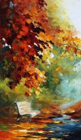 Orange aura by Leonid Afremov by Leonidafremov