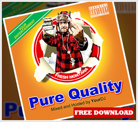 Pure Quality Mixtape or Album Cover by RomacMedia
