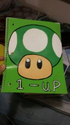 Green Mushroom Notebook  by MLPAristiscCSketch