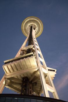 Soaring Space Needle by nikonraccoon