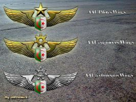 Algerian Air Force Wings by SarraZin
