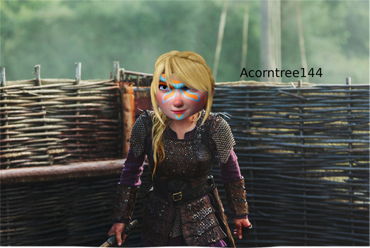 Astrid the Warrior (with facepaint) by acorntree144