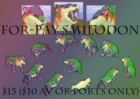 Pay Per Use Smilodon Avatar and Portraits by FerianMoon