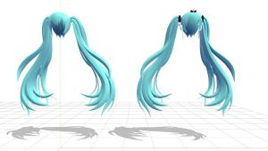 2012 Racing Miku Hair by DeliciousxSouls