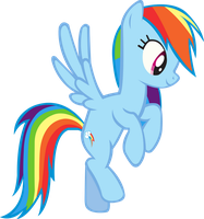 Rainbow Dash Hovering by hunterz263