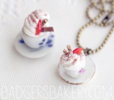 Mini cup necklace and charm by BadgersBakery