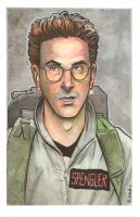 Ghostbusters Egon Spengler Watercolor... by ssava