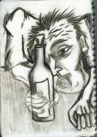 Drunk Man by puckatdeviantart