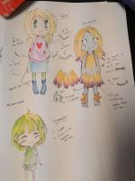 Techno Petals Characters Design. by SuzakuScarlet