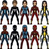 Earth-646 Spiders 2.0 by SpiderTrekfan616