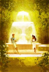 Chocolate and Vanilla meet in a park. by PascalCampion