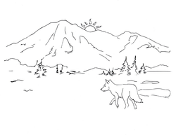 Mountain drawing (line art) by electronicdave