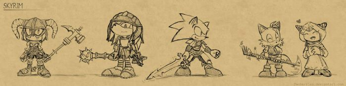 Sonic - Skyrim Crossover by TwoBerries