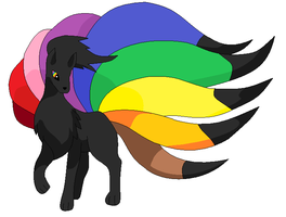 Ninetales Rainbow Adopt -Closed- by RoseandherThorns