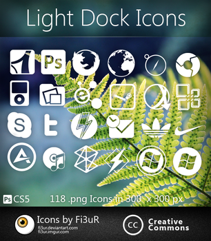 Light Dock Icons by Fi3uR