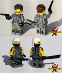 LEGO Metal Gear: Portable Ops - Snake and Null by Saber-Scorpion
