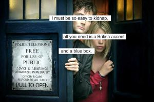 British Accent and Blue Box by MollyTheStalker