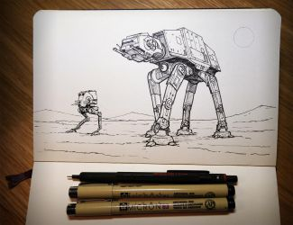 INKtober 02: Hoth by rickystinger88