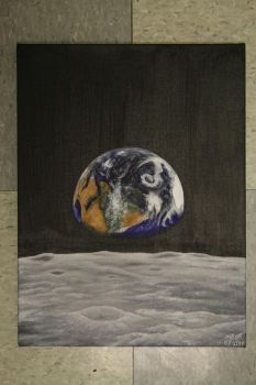 Earth from the Moon by CarbonCoffee