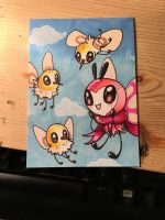 Cutiefly and Ribombee [ Artist's Trading Card ]