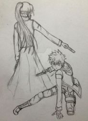 Assassin Izuku and Nightshade by GlitchTouch