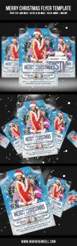 Merry Christmas Flyer Template by MarioGembell