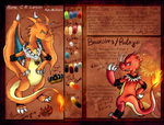 [Pokemon Comic] - C.R. Leryon- Character Ref Sheet by Dazed--Flame