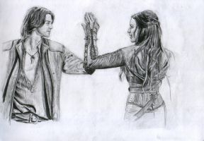 Richard and Kahlan by JustIrrelevant