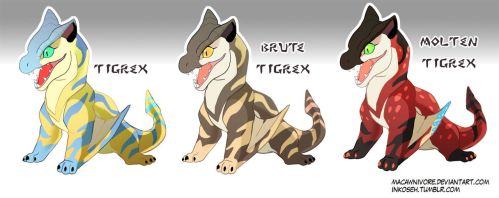 MH Babies - Tigrex by macawnivore