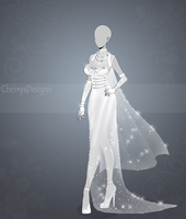 (closed) Auction Adopt - Outfit 439: Moon dress by CherrysDesigns