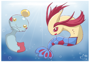 Chimecho and Milotic