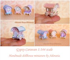 Gypsy caravan 1/144 scale by Adoratia