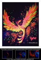 Neon Painting- Phoenix by GloriaPM
