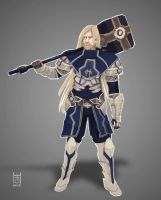 RUVYN - Light Guardian Paladin Concept Art by HARuNIS