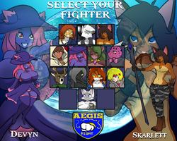 YCH Commissions: Select your fighter UPDATE by Hayakain