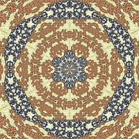 Mandala Twelve Terracotta by SamSpruce