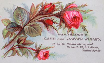 Victorian Advertising - Partridge's Dining Rooms by Yesterdays-Paper