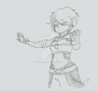Evolution Aelita sketch by LyokoFanLatina