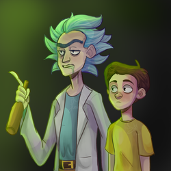 Rick and Morty by actionpilot
