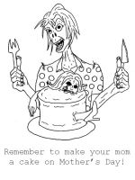 Mothers Day Zombies by jamsketchbook