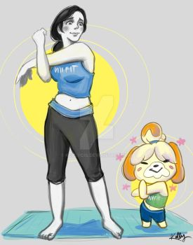 Isabelle Warms Up with Wii Fit Trainer