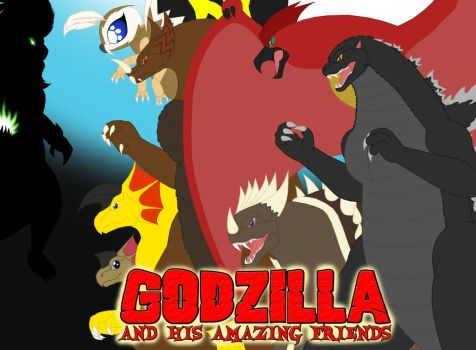 Godzilla and his Amazing Friends poster by Pyrus-Leonidas